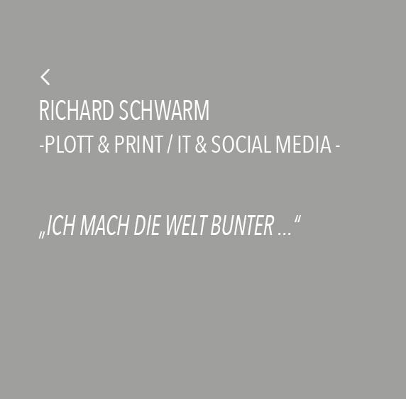Richard Schwarm - Ich mach die Welt bunter ...
